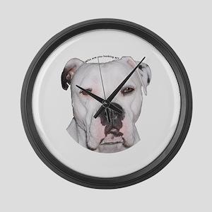 American Bulldog copy Large Wall Clock