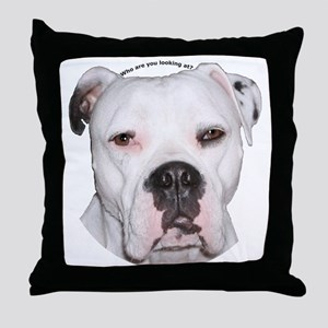 American Bulldog copy Throw Pillow