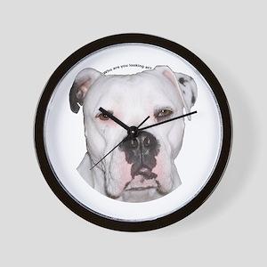 American Bulldog copy Wall Clock