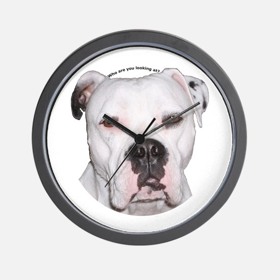American Bulldog copy.png Wall Clock