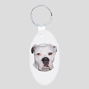 American Bulldog copy Aluminum Oval Keychain
