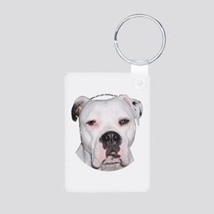 American Bulldog copy Aluminum Photo Keychain