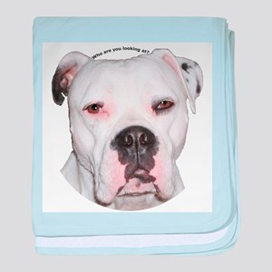 American Bulldog copy baby blanket