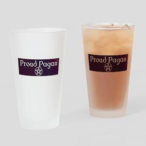 Proud Pagan Drinking Glass
