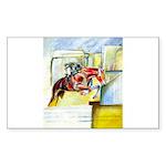 Equestrian - horse  art Sticker (Rectangle 10 pk)