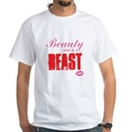 Beauty and a beast White T-Shirt