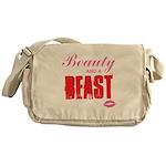 Beauty and a beast Messenger Bag