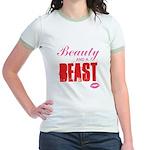 Beauty and a beast Jr. Ringer T-Shirt