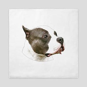 American pit bull terrier copy Queen Duvet