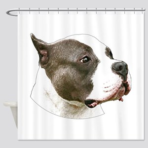 American pit bull terrier copy Shower Curtain