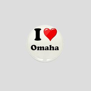 I Heart Love Omaha Mini Button