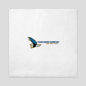 Cesar Chavez - Blue Eagle Logo Queen Duvet