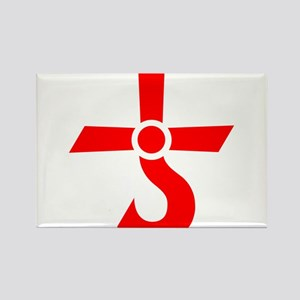 CROSS OF KRONOS (MARS CROSS) Red Rectangle Magnet