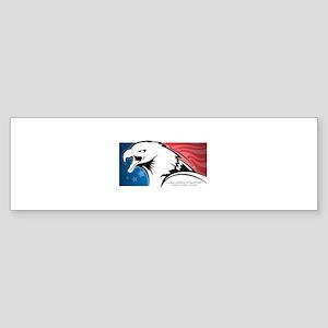 Cesar Chavez - American Eagle Logo Sticker (Bumper