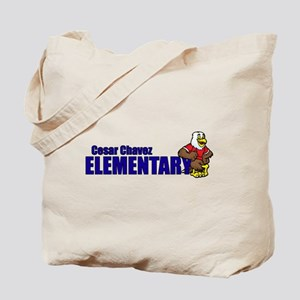 Cesar Chavez - Cartoon Eagle Logo Tote Bag