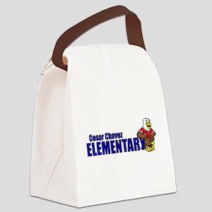 Cesar Chavez - Cartoon Eagle Logo Canvas Lunch Bag