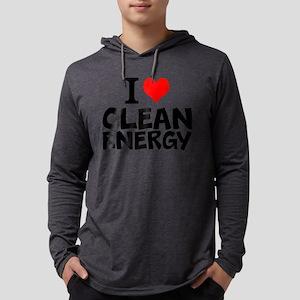 I Love Clean Energy Mens Hooded Shirt