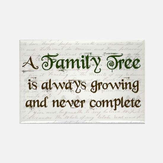 a Family Tree is... Rectangle Magnet