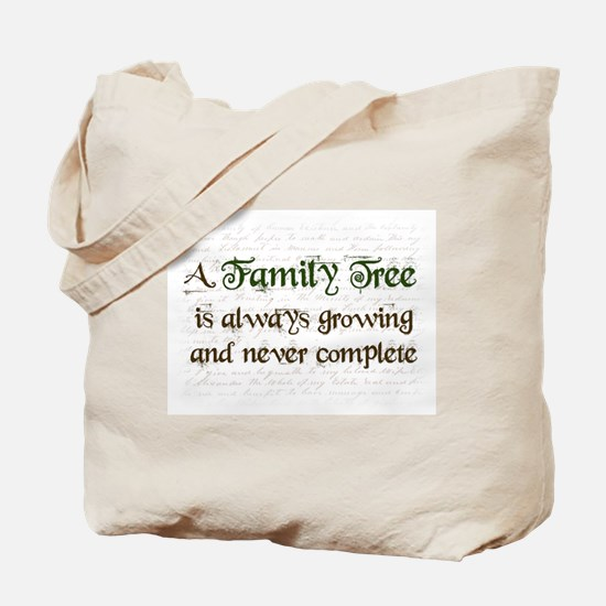a Family Tree is... Tote Bag