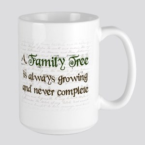 a Family Tree is... Large Mug
