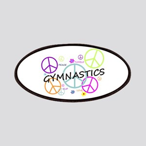 Colored Peace Signs Gymnastics Patches