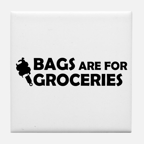 Grocery Bags Tile Coaster