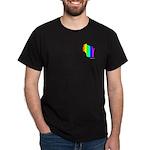 Wisconsin Pride Black Small Design T-Shirt