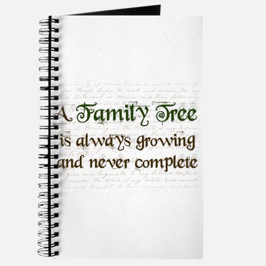 a Family Tree is... Journal