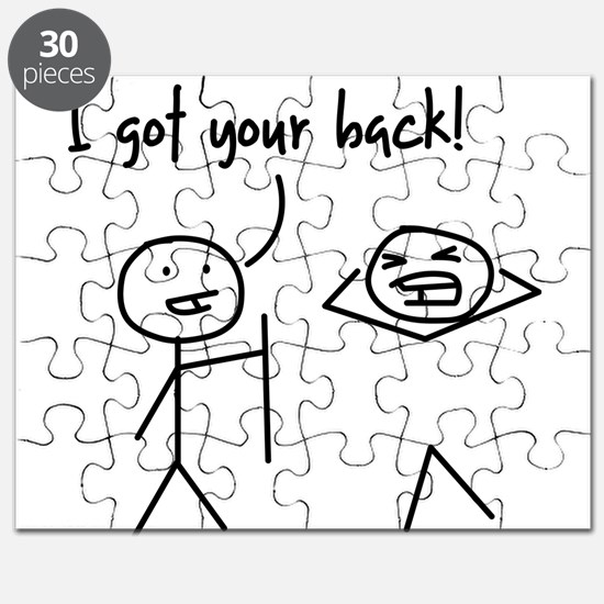 Unique Funny I Got Your Back Stick Figures Puzzle