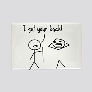 Unique Funny I Got Your Back Stick Figures Rectang