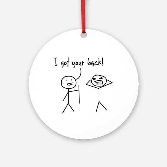 Unique Funny I Got Your Back Stick Figures Ornamen