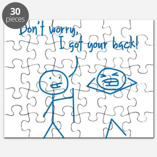 Unique Funny I Got Your Back Stick Figures Puzzle