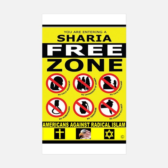 SHARIA FREE Sticker (Rectangle 10 pk)