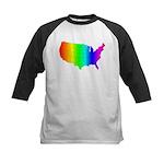 Rainbow States Kids Baseball Jersey