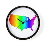 Rainbow States Wall Clock