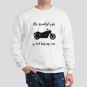 Greatest Risk Moto Script Sweatshirt