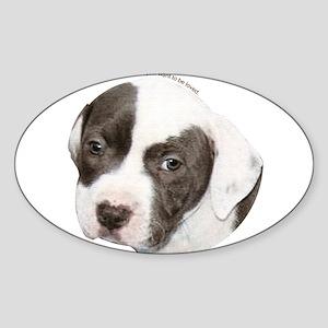 American pit bull terrier pup copy Sticker (Ov
