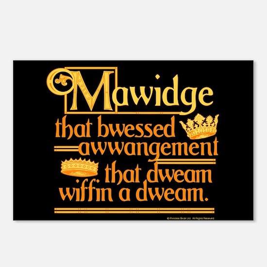 Princess Bride Mawidge Speech Postcards (Package o