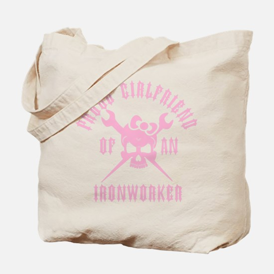 Proud Girlfriend of an Ironworker - PINK Tote Bag