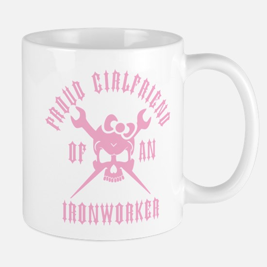 Proud Girlfriend of an Ironworker - PINK Mug