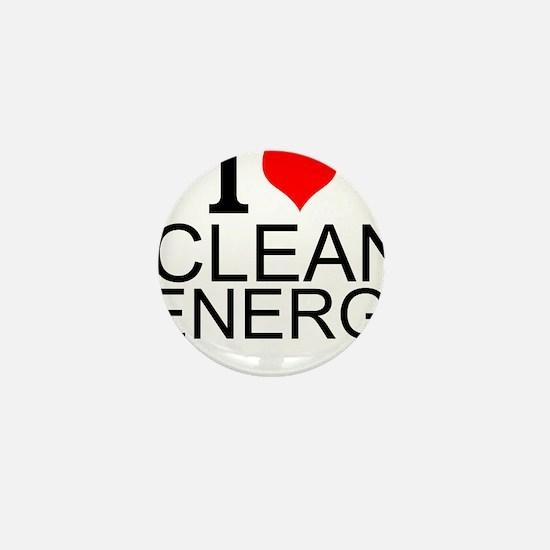 I Love Clean Energy Mini Button