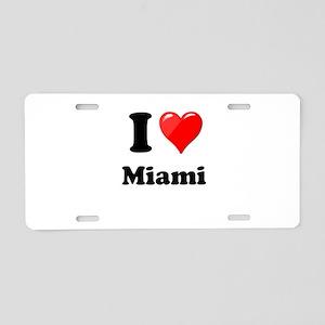 I Heart Love Miami Aluminum License Plate