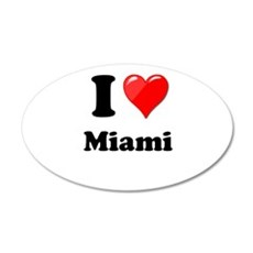 I Heart Love Miami.png Wall Decal