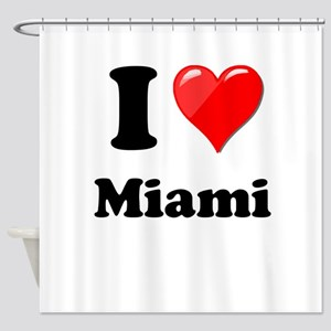 I Heart Love Miami Shower Curtain