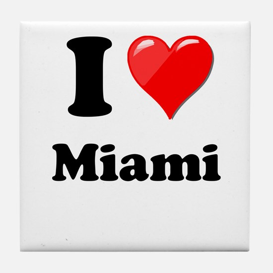 I Heart Love Miami.png Tile Coaster