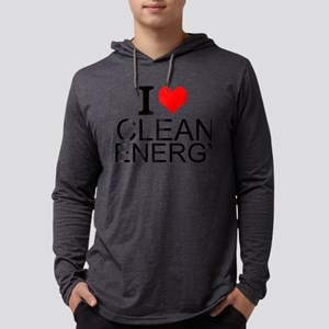 I Love Clean Energy Mens Hooded Shirt