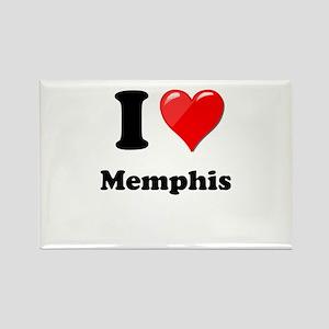 I Heart Love Memphis Rectangle Magnet