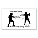 parryriposte Sticker (Rectangle 10 pk)