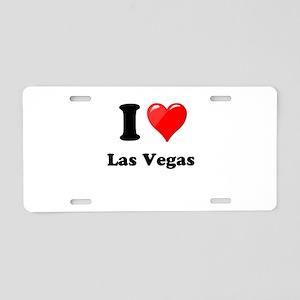 I Heart Love Las Vegas Aluminum License Plate