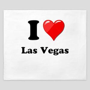 I Heart Love Las Vegas King Duvet